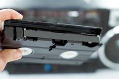Plástico, videotape preto à disposição Fotos de Stock