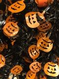 Plásticos cortados decoración de Halloween imagen de archivo libre de regalías