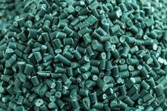 Plásticos reciclados verde Imagen de archivo