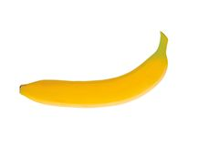 Plátano aislado Fotos de archivo libres de regalías