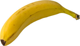 Plátano aislado Imágenes de archivo libres de regalías