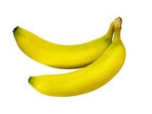 Plátano aislado en el fondo blanco con la trayectoria de recortes primer Imagenes de archivo