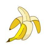Plátano amarillo del arte pop Fotografía de archivo libre de regalías
