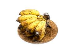 Plátano con el molde u hongos en el fondo blanco Foto de archivo libre de regalías