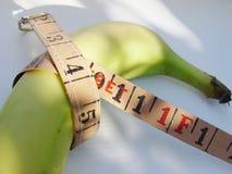 plátano de la dieta Fotografía de archivo libre de regalías