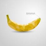 Plátano del polígono Ejemplo abstracto, papiroflexia Vector Foto de archivo