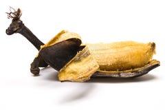 Plátano demasiado maduro pelado Fotografía de archivo libre de regalías