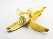 Plátano en el fondo blanco Fotografía de archivo