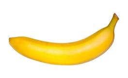 Plátano en el fondo blanco Imagen de archivo libre de regalías