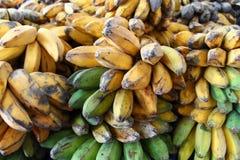 Plátano en mercado Imágenes de archivo libres de regalías