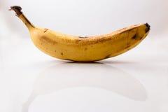 Plátano maduro aislado Fotos de archivo libres de regalías