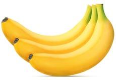 Plátano maduro tres fotos de archivo