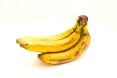 Plátano maduro tres Imagen de archivo libre de regalías