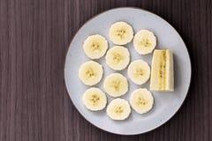 Plátano para el desayuno imágenes de archivo libres de regalías