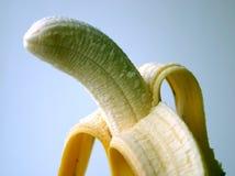 Plátano pelado imagenes de archivo