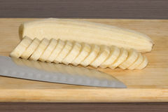 Plátano rebanado Fotos de archivo