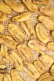 Plátano secado al sol Imagen de archivo libre de regalías