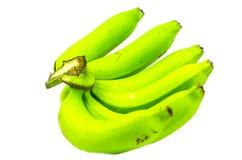 Plátano verde en el fondo blanco Fotos de archivo libres de regalías