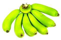 Plátano verde en el fondo blanco Imagen de archivo libre de regalías