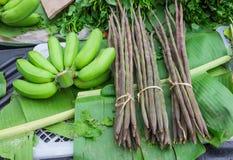Plátano y moringa Imagenes de archivo