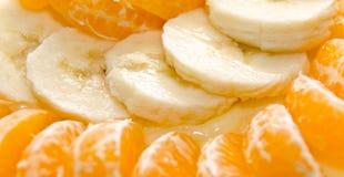 Plátano y naranja imagen de archivo libre de regalías