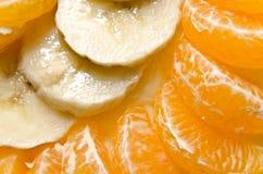 Plátano y naranja foto de archivo libre de regalías