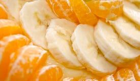 Plátano y naranja fotografía de archivo libre de regalías