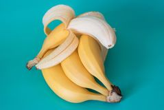 Plátanos aislados Fotografía de archivo