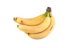 Plátanos aislados en blanco Imagenes de archivo
