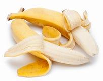 Plátanos aislados en blanco Foto de archivo libre de regalías