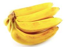 Plátanos aislados en blanco Fotos de archivo libres de regalías