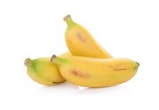 Plátanos aislados en blanco Imágenes de archivo libres de regalías