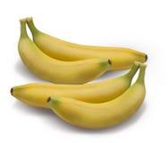 Plátanos aislados en el blanco Imagen de archivo libre de regalías