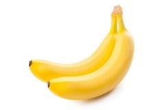 Plátanos aislados en el fondo blanco Fotografía de archivo libre de regalías