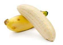 Plátanos aislados en el fondo blanco Foto de archivo libre de regalías