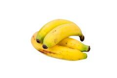 Plátanos aislados en el fondo blanco Imagen de archivo libre de regalías