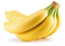 Plátanos aislados en un fondo blanco Foto de archivo
