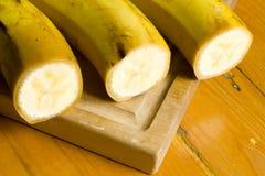 Plátanos amarillos maduros Fotografía de archivo
