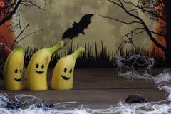 Plátanos asustadizos para Halloween Imagenes de archivo