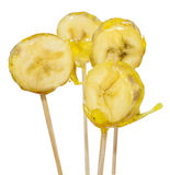 Plátanos caramelizados foto de archivo