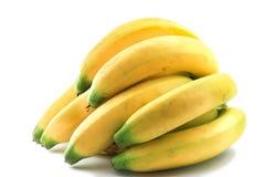 Plátanos en el fondo blanco Fotografía de archivo