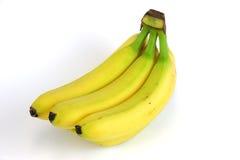 Plátanos en el fondo blanco Foto de archivo