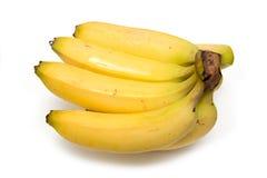 Plátanos en un fondo blanco del estudio. Fotografía de archivo