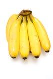 Plátanos en un fondo blanco del estudio. Fotos de archivo libres de regalías