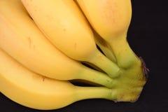 Plátanos en un fondo blanco del estudio Foto de archivo