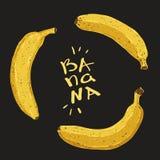 Plátanos fijados Imagen de archivo