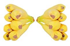 Plátanos frescos en el fondo blanco Foto de archivo libre de regalías