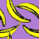 Plátanos inconsútiles del fondo del vector Fotos de archivo