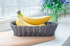 Plátanos maduros Imágenes de archivo libres de regalías