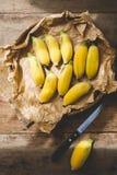 Plátanos maduros Imagen de archivo libre de regalías